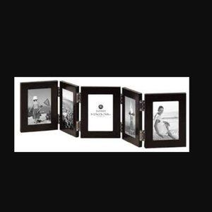 """Carr Picture Frames 5 Hinged 2.5"""" x 3.5"""" Black"""